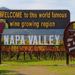 Napa Valley sign before you enter Napa Valley in Autumn
