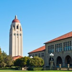 The Hoover tower on the campus on Stanford university